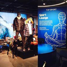 New Topsport with some great step towards #omnichannelretail and #digitalretail#retaildesign #storedesign #visualmerchandising #topsport