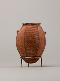 Decorated ware jar with lug handles Period: Predynastic Period Date: ca. 3850–2960 B.C. Geography: Country of Origin Egypt, Southern Upper E...