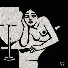 Jean-Claude Götting, Acrylics on sculpted board - BRAFA 2014 : From La Belle Illustration