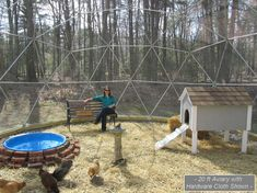 20 ft Geodesic Dome Outdoor Aviary Flight Cage by SunriseDomes, $2499.00