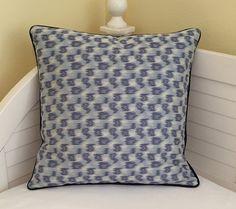 Thom Filicia for Kravet Parrish in Indigo Ikat Designer Pillow