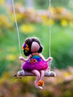 Autumn fairy Petruska mobile figurine collectable doll