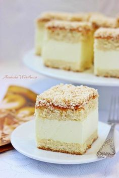Polish Desserts, Polish Recipes, Chef Recipes, Sweet Recipes, Dessert Recipes, Sweet Pastries, My Dessert, Food Cakes, Let Them Eat Cake