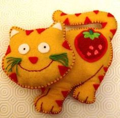 Chaton en feutrine / Felt kitty (french site with pattern) / Kotek klopotek pierwszy do psotek