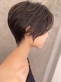 Bob Hairstyles For Fine Hair, Haircut For Thick Hair, Pixie Hairstyles, Short Hairstyles For Women, Pretty Hairstyles, Japanese Short Hair, Asian Short Hair, Short Hair Cuts, Shot Hair Styles