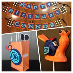 Fast snail party bags and banner by CustomizeMee on Etsy, $45.00
