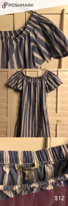 Charlotte Russe off Shoulder dress NWOT off shower dress. Cute for spring or any hot/sunny weather.  #neascloset Charlotte Russe Dresses Strapless