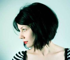 8 More Choppy Bob Hairstyles For Thick Hair: #7. Black Choppy Dark Bob