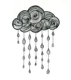 Cloud drawing 21 29 cm 2015 by Valentine Fasquel paper drawing tattoo lines cloud rain art Doodle Drawings, Doodle Art, Easy Drawings, Tattoo Drawings, Tattoo Linework, Zen Doodle, Mandala Art, Mandala Design, Cloud Drawing