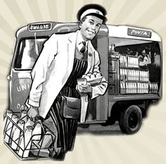 The Milkman - we actually had glass milk bottles for our school lunches - man I'm old! Old Milk Bottles, Vintage Milk Bottles, As Time Goes By, No Time For Me, Local Milk, Back In My Day, Did You Eat, Grass Fed Beef, Food Facts