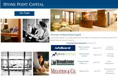 Stone Point Capital is a private equity firm that makes investments in businesses within the global financial services industry. Strategy : Buyout • Growth Region : Europe • North America Country : United States • Western Europe Industry : Financial Services & Insurance .To read more please visit : https://www.pinterest.com/bilal0335/