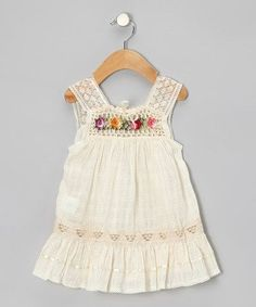 Natural Nathaly Ibiza Dress Infant, Toddler amp; Girls by Little Cotton Dress on sale today! Kiddos | Big Fashion Show cotton dresses