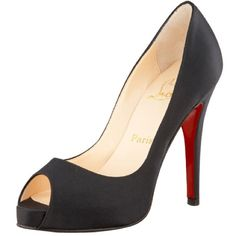 Christian Louboutin Black Very Prive 120 Christian Louboutin black satin Very Prive 120mm heel, size 38! Beautiful classic black satin shoe for any special occasion! Perfect gift for the holidays!                                         Worn twice, includes original box, dust bag and replacement heels. Christian Louboutin Shoes