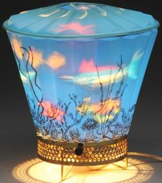 Motion Lamp Includes Blue Shade and Fish