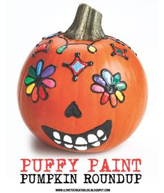iLoveToCreate Blog: More Puffy Paint Pumpkin Painting Fun