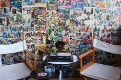 parece nossa ideia da parede de posters! :) lindo!