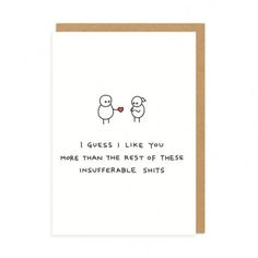 Rude Greeting Cards Featuring Minimal