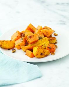 If you're looking for a great veggie side for dinner tonight, look no further than this dish of squash and beets.