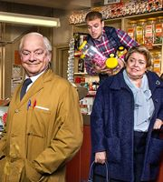 Still open all hours-Granville (David Jason), Leroy (James Baxter), Nurse Gladys Emmanuel (Lynda Baron) Open All Hours, David Jason, British Broadcasting Corporation, Only Fools And Horses, Perfect Tv, British Comedy, Bbc One, First Tv, Baron