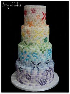 Mosaic Wedding Cake - Gold Winner Cake International - Cake by Emma