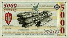 Graphic Design Class Assignment Inspiration: Battlestar Galactica Currency by *vectorgeek on deviantART