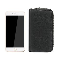 Zipper Wallet Bag with Id Card and Money Slot for 5.5 inch phone PU Leather Case for iphone 6 plus samsung GALAXY S7 XeYOU (Black): Amazon.ca: Electronics