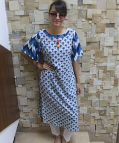 Blue Parrot Straight Kurti with Straight Pants