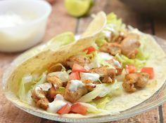 Copycat Del Taco chicken tacos