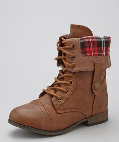 Take a look at this Tan Legend Fold-Over Boot by Link on #zulily today!