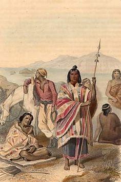 Indien Charruas, Gaucha, Chef Araucanien, Patagons. 1859