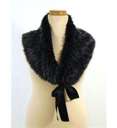 Unbranded Faux Fur Monochrome Grey Black Effect Stole/Shrug Monochrome, Faux Fur, Fur Coat, Grey, Shopping, Black, Dresses, Fashion, Gray