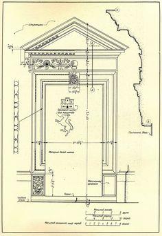 Рим. Церковь Сан Джиакомо Дельи Спаньоли. Двери и порталы в итальянской архитектуре