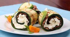 Zucchine grigliate con pancetta e ricotta