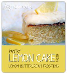 Pantry Lemon Cake with Lemon Buttercream Frosting