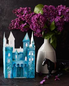 Add a little magic to your night with a #DIY printable castle paper votive.