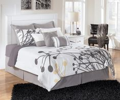 Simplicity runs wild with the queen headboard bed.  A wide, segmented frame borders the headboard. Pair with the night stand, chest, media chest, dresser and mirror to complete your set. This headboard works with a full or queen bed and a standard metal frame (sold separately).