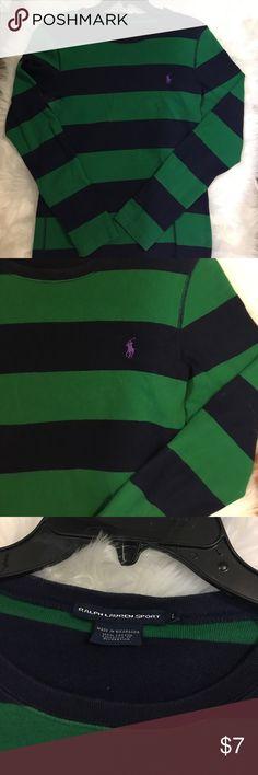 Long sleeve striped Ralph Lauren tee Comfortable and cute long sleeve Ralph Lauren tee. Beautiful and bold colors. Ralph Lauren Tops Tees - Long Sleeve
