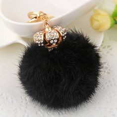 GET $50 NOW | Join RoseGal: Get YOUR $50 NOW!http://www.rosegal.com/keyring/rhinestone-crown-fuzzy-ball-keychain-983255.html?seid=2275071rg983255