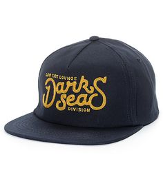 e19489da403 Dark Seas Chaser Navy Snapback Hat