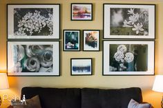 Add a little character to your home decor with a gallery wall curated by  Minted.