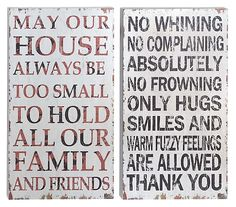 One Kings Lane - Say Anything - Wood Panel Signs