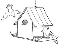 BIRD FEEDER (2-Day Elective): Learn how to make a bird feeder out of wood.