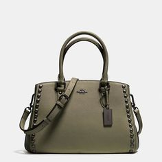 Empire Carryall in Lacquer Rivets Pebble Leather That Stands Out $375
