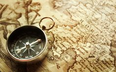 compass on an old map... that looks inviting :D