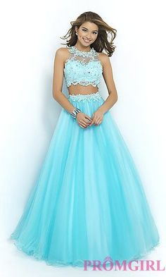Long Two Piece Ball Gown by Blush at PromGirl.com: