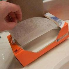 Dryer Sheets Makes bathroom mirrors and fixtures sparkle. Cuts right through bathtub scum. Use to get sticky dust right off furniture, blinds and baseboards. Cleans up stove tops and greasy cabinets quickly. Soak paint brushes with warm water and a dryer sheet. Watch the paint come right off. Clean dead bugs off your car. Wipes pet hair off furniture and clothing. Keeps mosquitoes away