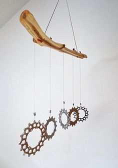Wind Chimes, Bicycle Accessories, Kinetic Art, Recycled Bicycle Art, Bikes