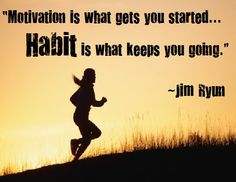 """""""Motication is what gets you started.Habit is what keeps you going"""" Work Motivation, Training Motivation, Fitness Motivation, Motivational Thoughts, Motivational Videos, Inspirational, Health Fitness Quotes, Live Laugh Love, Positive Words"""