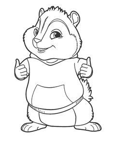 Sonhando com cores: Alvin e os esquilos