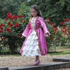 Marie Antoinette Girls Princess Fancy Dress Costume - Pretty As A Princess - Travis Deluxe Childrens